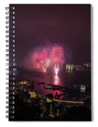New Year's Eve Fireworks  Spiral Notebook