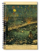 New York And Brooklyn Bridge Opening Night Fireworks Spiral Notebook