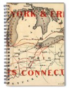 New York And Erie Railroad Map 1855 Spiral Notebook