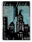 New York Art Deco Spiral Notebook