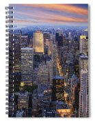 New York At Night Spiral Notebook
