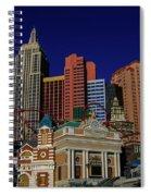New York Casino At Night Spiral Notebook
