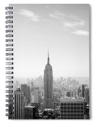 New York City - Empire State Building Panorama Black And White Spiral Notebook