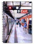 New York City Broadway Subway Station Spiral Notebook