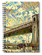 New York City - Brooklyn Bridge Watercolor Spiral Notebook