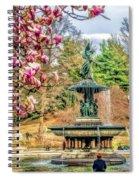 New York City Central Park Bethesda Fountain Blossoms Spiral Notebook