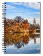 New York City Central Park Bow Bridge - Impressions Of Manhattan Spiral Notebook