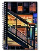New York City Elevated Subway Stairs Spiral Notebook