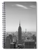 New York City - Empire State Building Panorama Black And White - 2015 Edition Spiral Notebook
