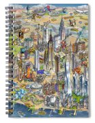 New York City Illustrated Map Spiral Notebook