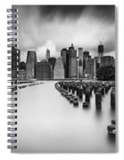 New York City In Black And White Spiral Notebook