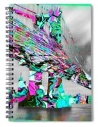 New York City Manhattan Bridge Pure Pop Green Spiral Notebook