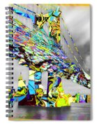 New York City Manhattan Bridge Pure Pop Gold Spiral Notebook