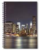New York City - Manhattan Waterfront At Night Spiral Notebook
