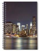 New York City - Manhattan Waterfront At Night Spiral Notebook