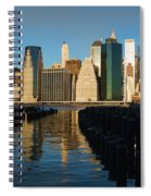 New York City Morning Reflections - Impressions Of Manhattan Spiral Notebook