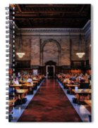 New York City Public Library Rose Reading Room Spiral Notebook