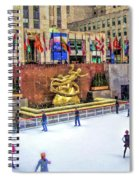 New York City Rockefeller Center Ice Rink Spiral Notebook