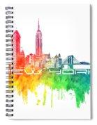 New York City Skyline Color Spiral Notebook