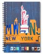 New York City Skyline License Plate Art Spiral Notebook