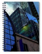 New York City Skyline, No. 27 - Yellow Street Lamp Spiral Notebook