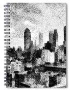 New York City Skyline Sketch Spiral Notebook