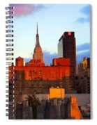 New York City Skyline Sunset Spiral Notebook