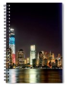 New York City Skyline Tribute In Lights And Lower Manhattan At Night Nyc Spiral Notebook