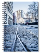New York City Skyline With Brooklyn Bridge Spiral Notebook