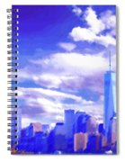 New York City Skyline With Freedom Tower Spiral Notebook