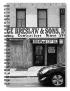 New York City Storefront Bw4 Spiral Notebook
