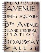 New York City Street Sign Spiral Notebook