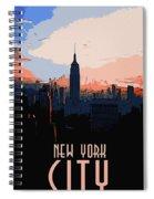 New York City Sunset Spiral Notebook