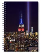 New York City Tribute In Lights Empire State Building Manhattan At Night Nyc Spiral Notebook