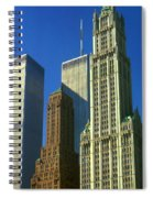 New York City - Woolworth Building And World Trade Center Spiral Notebook