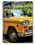 New York City Yellow Checker Taxicab Spiral Notebook