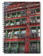 New York Fire Escapes Spiral Notebook