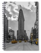 New York - Flatiron Building And Yellow Cabs - 2 Spiral Notebook