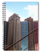 New York Hotel With Clouds Spiral Notebook