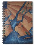 New York In Mosaic Spiral Notebook