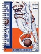 New York Knicks V Boston 1967 Playoff Program Spiral Notebook