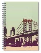 New York Manhattan Bridge Spiral Notebook