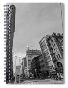 New York Ny Flatiron Building Fifth Avenue Black And White Spiral Notebook