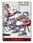 New York Rangers 1960 Program Spiral Notebook