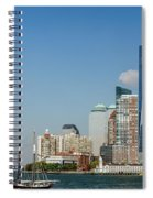 New York Skyline And Sailboat Spiral Notebook