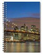 New York Skyline - Brooklyn Bridge - 4 Spiral Notebook
