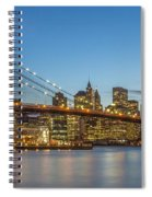 New York Skyline - Brooklyn Bridge Spiral Notebook