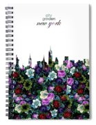 New York Skyline Floral 3 Spiral Notebook