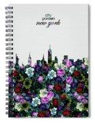 New York Skyline Floral 4 Spiral Notebook