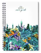 New York Skyline Floral  6 Spiral Notebook